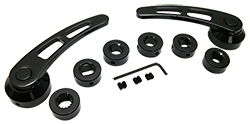 Door Handle Set, Black Anodized Billet Aluminum