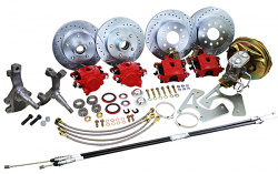 "1962-67 Chevy Nova Power Disc Brake Conversion Kit, 2"" Drop Spindles"