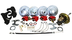 "1966-70 Chevy Impala Front and Rear Power Disc Brake Conversion Kit, 2"" Drop Spindles"