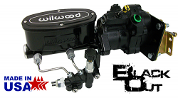 1958-65 Chevy Impala Hydro Boost Power Brake Booster, Black Wilwood Master Cylinder