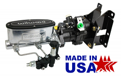 1973-87 Chevy, GMC Truck Hydro Boost Power Brake Booster with Bright Wilwood Master Cylinder