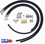 Hydro Boost Hose Hook Up Kit with Fittings, Rubber