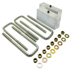 1949-54 Chevy Belair, Fleetline Lowering Block Kit, OEM rear end