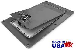 Fuel Tank and Master Cylinder Access Door, Stainless Steel, Brushed, Rectangular