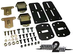 Chevy LS Engine Adapter Kit, Adjustable with Poly Urethane Mounts