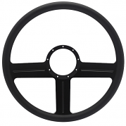 "G3 Billet 15"" Steering Wheel - Black Out Spokes and Grip, Eddie Motorsports"