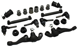 1965-69 Mopar B-Body Front Suspension Rebuild Kit, Rubber Bushings
