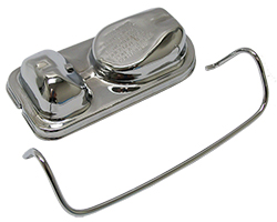 Master Cylinder Lid, Single Clamp Ford Type, Chrome