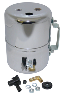 Vacuum Reservoir Canister, Remote Type, Power Brakes, Chrome