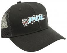 POL Snap Back Truckers Hat - Black