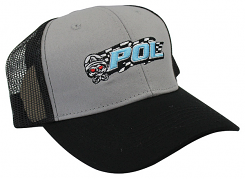 POL Snap Back Truckers Hat - Black/Gray