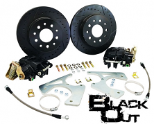 "Black Out Rear Disc Brake Conversion Kit, GM 10-12 Bolt Rearend, 11"" Rotors"