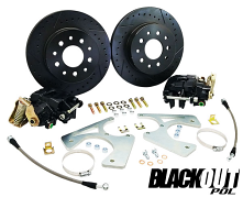 "BlackOut Series Rear Disc Brake Conversion Kit, GM 10-12 Bolt Rearend, 11"" Rotors"