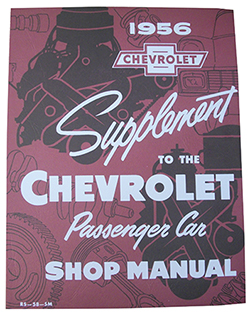 1956 CHEVY PASSENGER CAR FACTORY ASSEMBLY MANUAL SUPPLEMENT