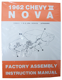 1962 CHEVY NOVA, CHEVY II FACTORY ASSEMBLY MANUAL