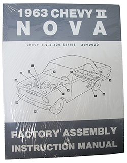 1963 CHEVY NOVA, CHEVY II FACTORY ASSEMBLY MANUAL