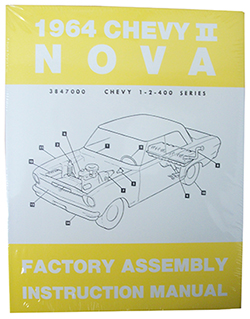 1964 CHEVY NOVA, CHEVY II FACTORY ASSEMBLY MANUAL