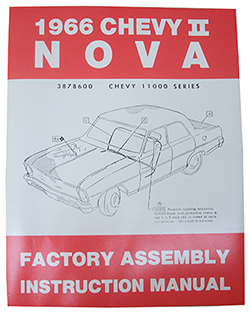 1966 CHEVY NOVA, CHEVY II FACTORY ASSEMBLY MANUAL