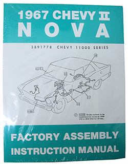 1967 CHEVY NOVA, CHEVY II FACTORY ASSEMBLY MANUAL