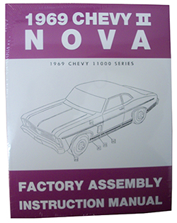1969 CHEVY NOVA, CHEVY II FACTORY ASSEMBLY MANUAL