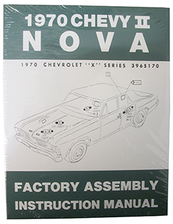1970 CHEVY NOVA, CHEVY II FACTORY ASSEMBLY MANUAL