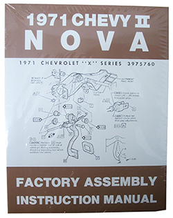 1971 CHEVY NOVA, CHEVY II FACTORY ASSEMBLY MANUAL