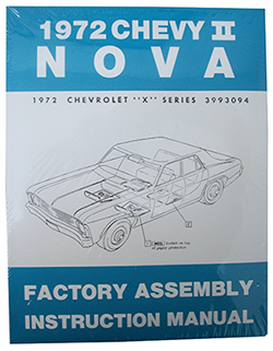 1972 CHEVY NOVA, CHEVY II FACTORY ASSEMBLY MANUAL