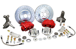 "1967-69 Chevy Camaro Disc Brake Conversion Kit, 13"" Rotors, 2"" Drop Spindles"