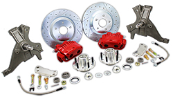 "1970-81 Chevy Camaro and Pontiac Firebird, Drop Spindle, Disc Brake Conversion Kit, 13"" Rotors, Dual Piston Calipers"