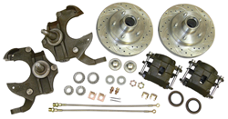 1975-79 Chevy Nova Disc Brake Conversion Kit, Drop Spindles