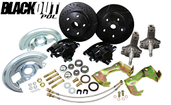 """1964-72 Chevy Chevelle Black Out Disc Brake Conversion with 2"""" Drop Spindles"""