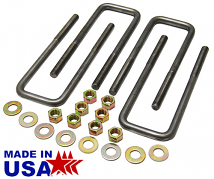 Ubolt Kit for Leaf Spring Suspension, Fits 63-72 GMC Truck and 1966-72 Chevy C10