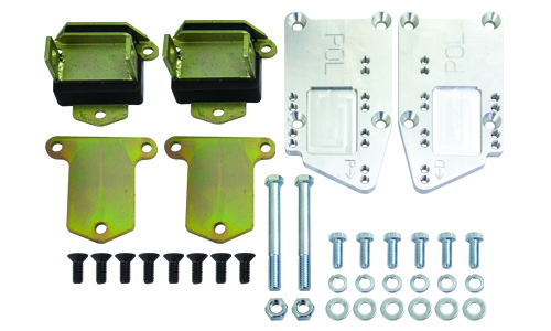 Chevy LT Engine Adapter Kit, Adjustable with Poly Urethane Mounts