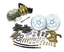 "1948-52 Ford F-1 Truck Power Disc Brake Conversion Kit, Floor Mount Booster, 5.5"" Bolt pattern"