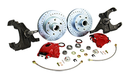 1960-62 Chevy C10, GMC C15 Truck Disc Brake Conversion, Stock or Drop Spindle, 5 or 6 Lug