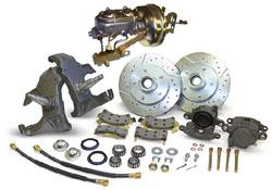 "1955-57 Chevy Belair Power Disc Brake Conversion Kit, 2"" Drop Spindles"
