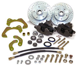 1955-64 Chevy Belair, Impala, Biscayne, Fullsize Car Disc Brake Conversion Kit, D52 GM Caliper
