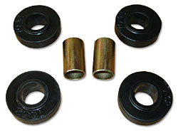 1965-70 CHEVY FULL SIZE CAR, FRONT STRUT ROD BUSHINGS KIT, POLY URETHANE (7-1211)