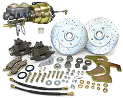 "1953-56 Ford F-100 Truck Power Disc Brake Conversion Kit, Floor Mount Booster, 5.5"" Bolt Pattern"
