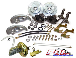 1967-69 Chevy Camaro Power Disc Brake Conversion, OEM Spindles