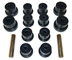 1965-73 FORD MUSTANG, REAR LEAF SPRING BUSHING KIT, POLY URETHANE
