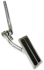Gas Pedal, Chrome with Vertical Inserts