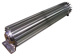 Transmission Cooler, Radial type, Aluminum, Anodized