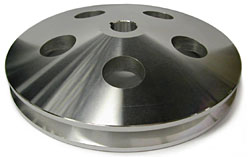 GM POWER STEERING PUMP PULLEY, ALUMINUM SINGLE GROOVE