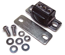 GM Transmission Mount, Polyurethane, TH350, TH400, 700R4, PowerGlide, Muncie 4 speed, CHROME