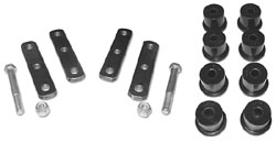 1964-73 FORD MUSTANG, LEAF SPRING HEAVY DUTY SHACKLE BUSHING SET (POLY)(4-2136G)