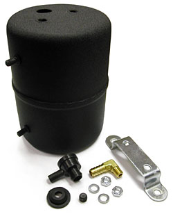 Vacuum Reservoir Canister, Remote Type, Power Brakes, Black