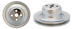 Ford 289 Water Pump Pulley, Single Groove, Chrome