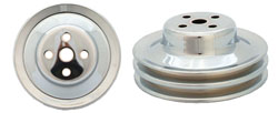 Ford 289 Water Pump Pulley, 2 Groove, Chrome