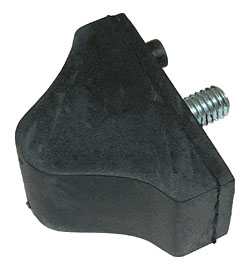 GM Early Style Lower Control Arm Bump Stop, Rubber, Ea
